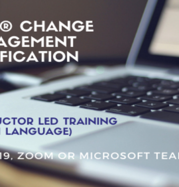 Online Prosci® Change Management Certification Program 2021 06 17